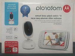"Motorola Comfort 5""  Video Baby Monitor with Remote Pan Sca"