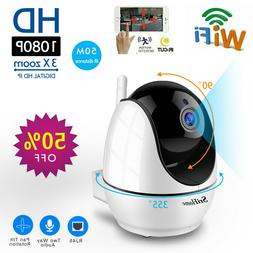 1080P NVR Wireless Security IP Camera System Indoor Wifi Sma