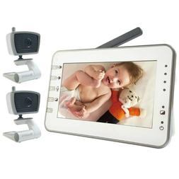 "4.3"" LARGE LCD Video Baby Monitor Two Cameras Pack W Power S"