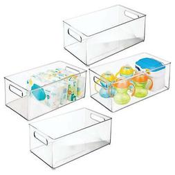 mDesign Stackable Storage Organizer Container Bin with Handl