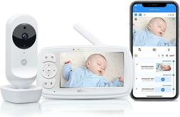 """Motorola EASE44CONNECT 4.3"""" HD Wi-Fi Video Baby Monitor"""
