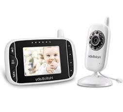 HelloBaby Video Baby Monitor with Night Vision Camera, LCD S