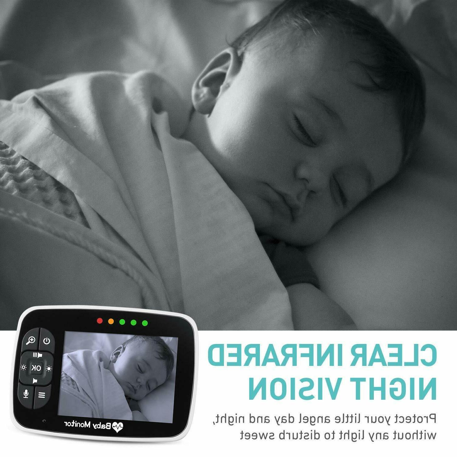 """Baby 3.5""""LCD Display,Video Baby Camera, Infant Night"""