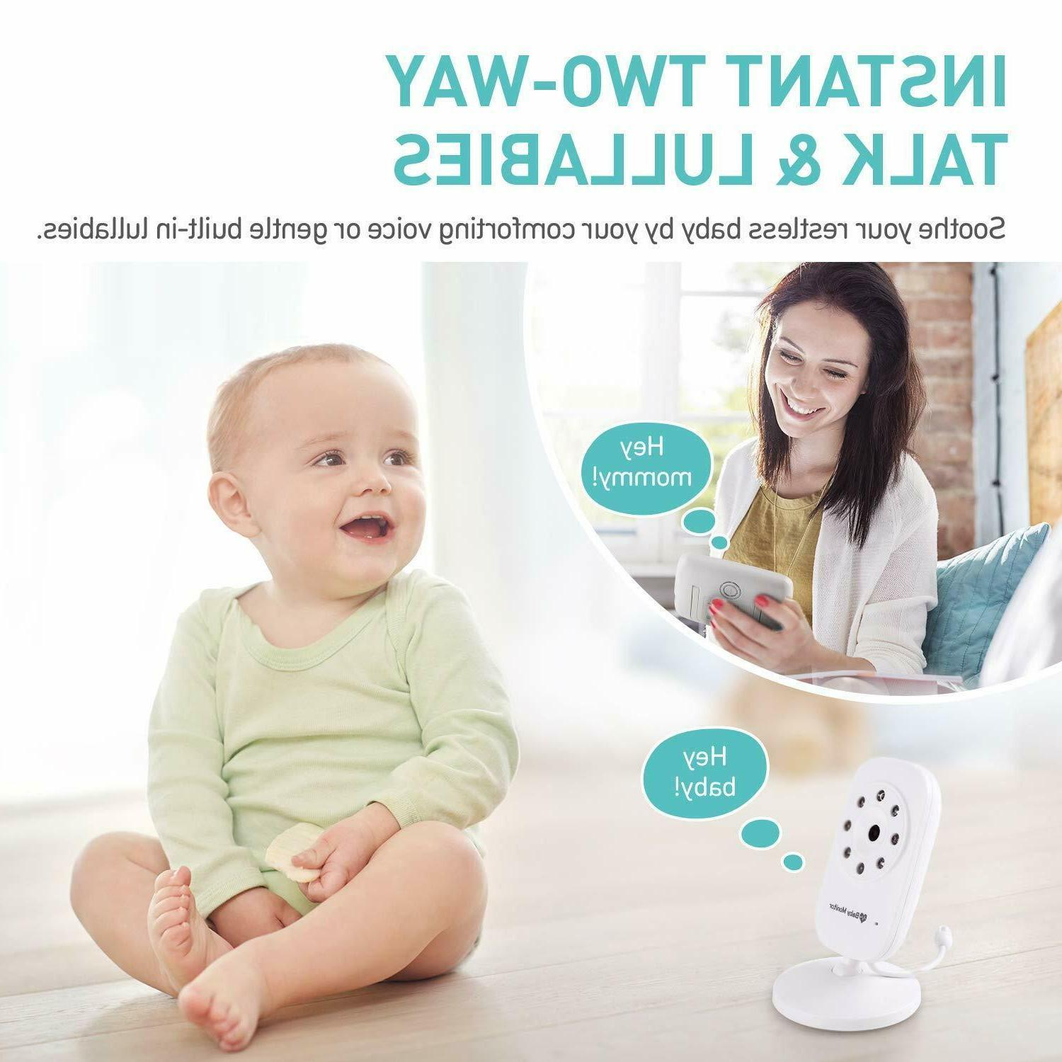 Baby Monitor Display,Video with Camera, Infant Night
