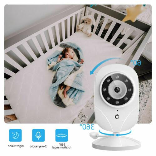 Baby Monitor DT24 Wireless 1000ft Security Camera Audio 2.4GHz   Refurbished
