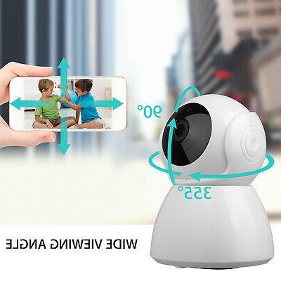 Wireless HD Pan Baby Pet Monitor Security Camera WiFi Webcam