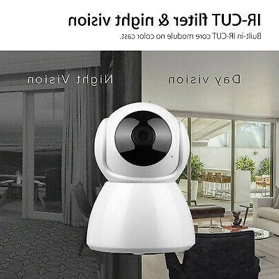 Wireless Pan Baby Security Camera IR WiFi Webcam