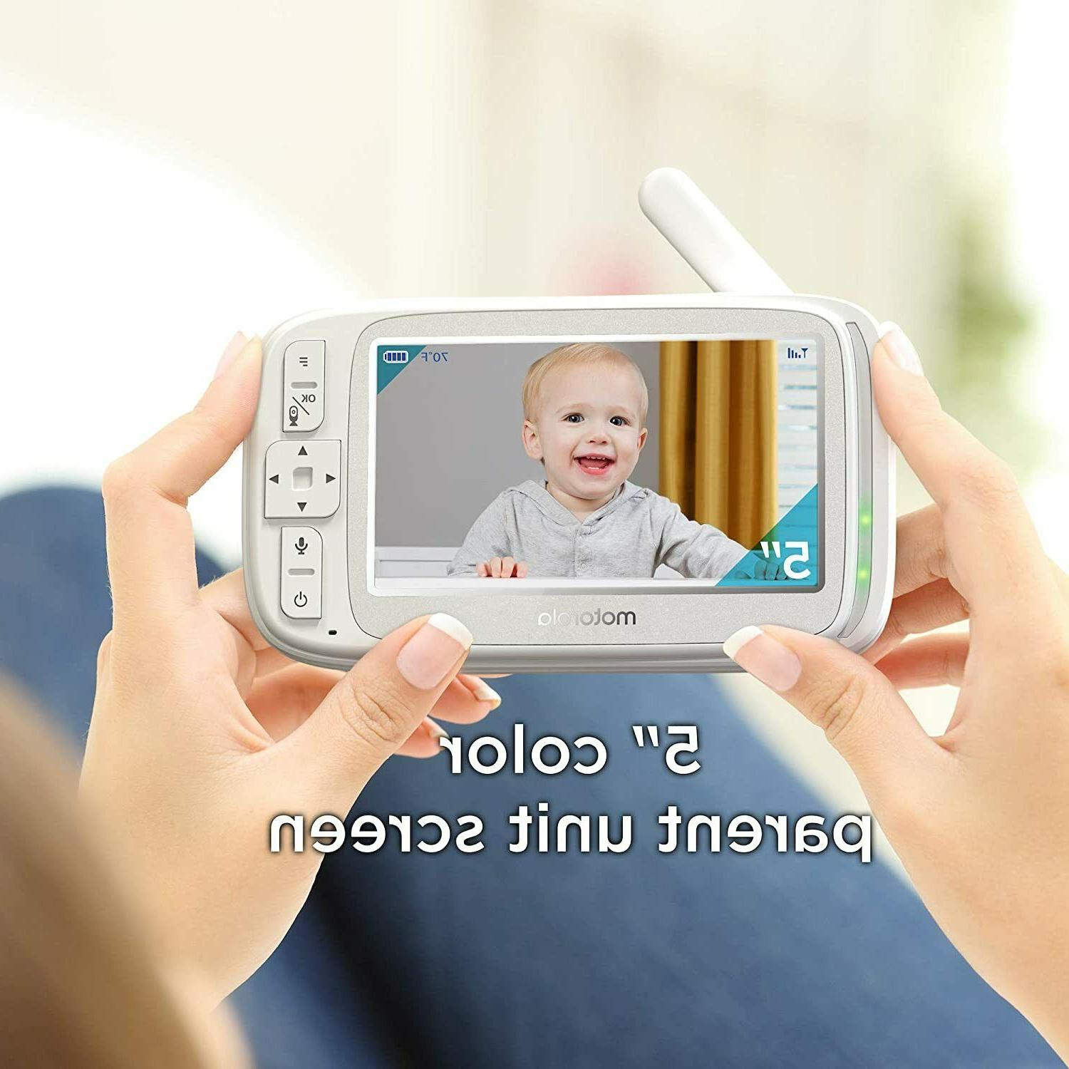 """Motorola Comfort 50 Video Baby Monitor with 5"""" Color"""