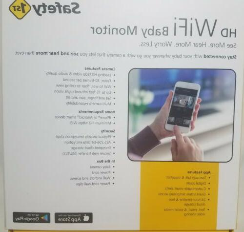 Safety First Wifi Baby Monitor UNUSED