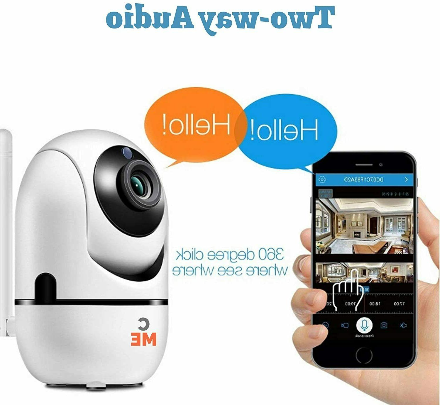 1080p WiFi Wireless Indoor Home Camera Vision Pet Monitor