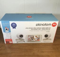 """Motorola MBP50-G2 5"""" Video Baby Monitor with Two Cameras Ope"""