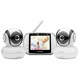 Motorola Video Baby Monitor with 2 Cameras, 3.5 Inch LCD Col