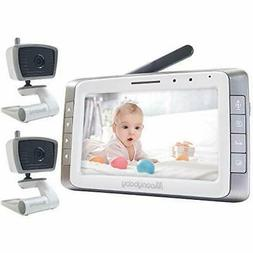 Moonybaby Trust 50-2 Non-WiFi Baby Monitor, 2 Cameras and 5