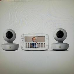 Motorola 5 inch Portable Video Baby Monitor with Two Cameras