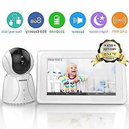 """Upgrade Baby Monitor, Video Baby Monitor 7"""" Large LCD Screen"""