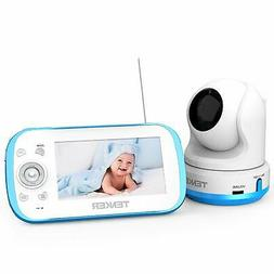 TENKER Video Baby Monitor with Camera and Audio, Baby Monito